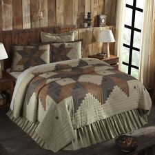 VHC Rustic Cotton Quilt Bedspread Blanket Twin Patchwork