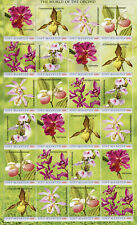 More details for st maarten flowers stamps 2020 mnh orchids world of orchid flora nature 24v m/s