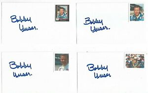 (1) Bobby Unser Signed 3X5 Index Card 3X INDY 500 Winner Racing HOF
