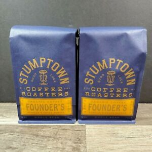 Stumptown Founders Organic Whole Bean Coffee 12 oz Bag 2 PACK Vanilla & Cocoa