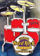 Hard Rock Hotel HOLLYWOOD FL 2014 Red DRUM Puzzle PIN #2/2 - HRC Catalog #76768
