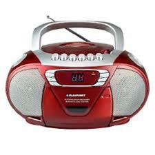 Blaupunkt CD Player tragbar Kinder Radio Kassetten Boombox Stereoanlage rot
