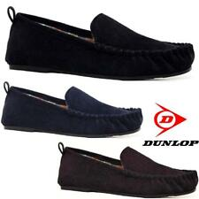 MENS MOCCASINS SLIPPERS LOAFERS FAUX SUEDE CORDUROY WINTER SLIP ON SHOES SIZE