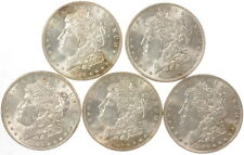 Lot Of 5 1886 $1 Morgan Silver Dollar US Mint Coins