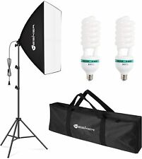 Softbox Photography Lighting Kit Continuous Photo Studio Equipment w/ 85W Blubs