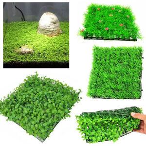 Artificial Water Plastic Green Grass Plant Lawn Aquarium Fish Tank Ornament