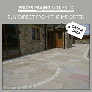 Natural Indian Sandstone Patio Paving Sample Pack  TRY BEFORE YOU BUY
