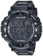 Armitron Men's Black Resin Watch, 100 Meter WR, Chronograph, 40/8309BLK