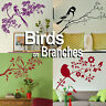 Birds on a Tree Branch Wall Stickers! Home Transfer Graphic Decal Decor Stencils