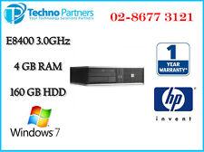 HP DC7900 SFF Desktop Computer E8400 3GHz 4G 160G DVD-RW Wn 7 Pro 1Yr Warranty