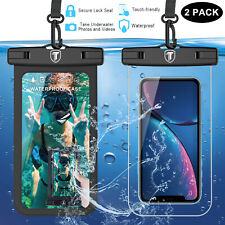 2 Pack Universal Waterproof Cell Phone Pouch Case Dry Bag for iphone Samsung LG