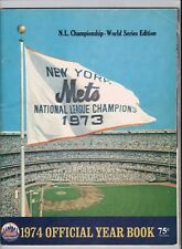 1974 New York Mets Official Yearbook NL Championship World Series Edition