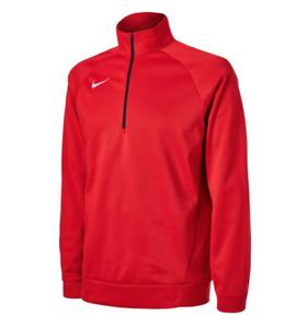Nike Training Top Mens XS or Small New Dry Therma Quarter Zip Long Sleeve Red