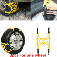 3x Car Tire Wheel Anti-skid Chains Thickened Beef Tendon for Snow Mud Road Valid