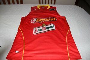 T-Shirt Basketball Official Selection Spain Brand Li Ning Size L Patch Fiba