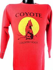 Vintage Coyote Shirt Country Rock Red 80s Gram Parsons The Rolling Stones Boho