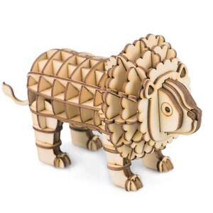 Rolife DIY Wooden Crafts Lion Kits Handmade Toy Home Decor STEM Gift for Kids