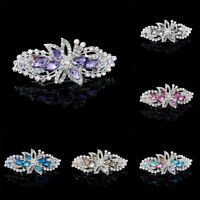Women Flower Hair Slide Clips Grips Crystal Barrettes Hair Pins Accessories
