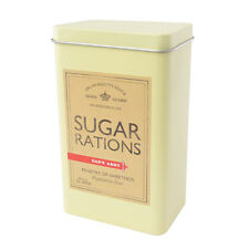 Retro Sugar Caddy Canister Military Rations Tin Green DAD'S ARMY