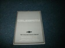 1987 Chevrolet Celebrity Factory Original Owners Operators Manual Book
