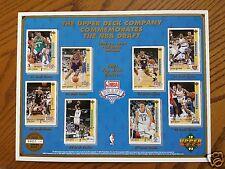 1991-1992 Upper Deck Commemorative NBA Draft Promo Sheet Limited Edition