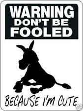 """0818 Donkey and Mule 9""""x12"""" Aluminum Sign"""