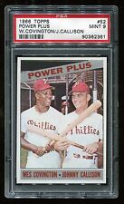 1966 Topps #52 Power Plus w/Covington & Callison PSA 9 MINT Cert #90362361