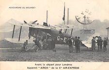 CPA AERODROME DU BOURGET AVANT DEPART POUR LONDRES APPAREIL AIRCO