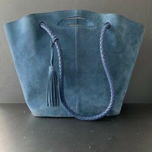 Neely & Chloe Burch Market Tote Suede Blue, Oprah's Favorite Handbag