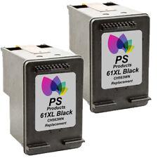 2-pk For HP61 XL Black Ink Cartridges For Deskjet 3000 3050 3050A 3054A