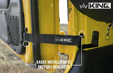 King 4WD Heavy Duty Adjustable Door Straps Solid In Pairs for All Jeep