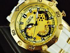 Invicta Men's 50mm Pro Diver Scuba Gen 3 Chronograph 18KGIP White Strap Watch