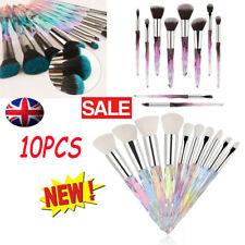 10Pcs Unicorn Make Up Brushes Crystal Handle Set Powder Foundation More Style UK