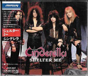 CINDERELLA Shelter Me (1990) JAPAN CD OBI / Glam Keel Britny Fox Great White