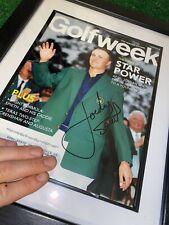 Golf Week Jordan Spieth Autograph Masters 2015 Signed Magazine In Frame NICE