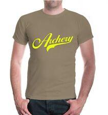 Herren Unisex Kurzarm T-Shirt Archery Logo Bogenschießen Schießsport Schütze
