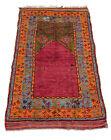 Antique Turkish Prayer Rug 3′4″ × 5′8″ Hand-Knotted Rug Cir1900 RARE MASTERPIECE