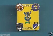 UEFA Europa League 2013-14 (Apoel Zypern-bordeaux-Maccabi-Eintracht) gelb Pin