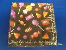 Happy Candy Eating Halloween Party Luncheon Napkins