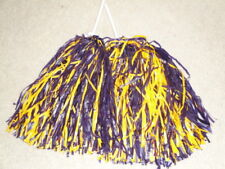 Pair of Purple & Gold Rooter Pom Poms *Huskies Colors*