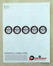 C136-Advertising Pubblicità-1998- DRIVER GOMMISTI A CINQUE STELLE
