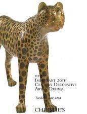 Sotheby's Important 20th Century Decorative Art & Design Auction catalog 2009