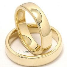 MENS & WOMENS 10K YELLOW GOLD MATCHING HIS & HERS WEDDING BANDS RINGS SET