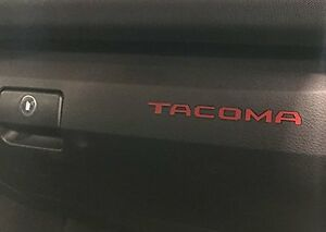 BDTrims | Red Plastic Letters for Toyota Tacoma 2016-2020 Glove Box Inserts