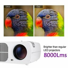 8000 Lumens FHD Android 7.1 3D WIFI TV Smart LED LCD Home Projector Best GIFT