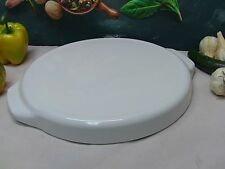 Corning Ware Round Microwave Browner / Crisper Just White - Corningware # MW-12