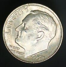 1952-D Roosevelt Dime 10C Full Bands FB A Beautiful Example UNC! GC346