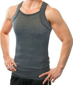 Different Touch Men's G-unit Style Tank Tops Square Cut Muscle Rib A-Shirts