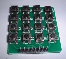 16 KEY SWITCH tattile MATRIX tastierino numerico Arduino PIC ARM UK STOCK