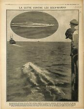Boats US Navy/Submarine U-Boat Sous-Marins Kaiserliche Marine Périscope 1917 WWI